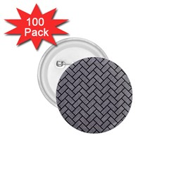 Brick2 Black Marble & Gray Colored Pencil (r) 1 75  Buttons (100 Pack)  by trendistuff