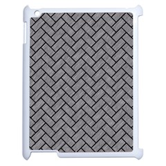 Brick2 Black Marble & Gray Colored Pencil (r) Apple Ipad 2 Case (white) by trendistuff