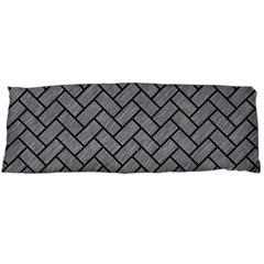 Brick2 Black Marble & Gray Colored Pencil (r) Body Pillow Case (dakimakura)