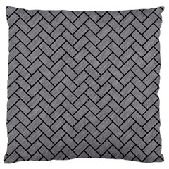 Brick2 Black Marble & Gray Colored Pencil (r) Standard Flano Cushion Case (one Side) by trendistuff