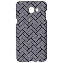 Brick2 Black Marble & Gray Colored Pencil (r) Samsung C9 Pro Hardshell Case  by trendistuff