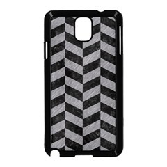 Chevron1 Black Marble & Gray Colored Pencil Samsung Galaxy Note 3 Neo Hardshell Case (black) by trendistuff