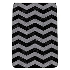 Chevron3 Black Marble & Gray Colored Pencil Flap Covers (l)