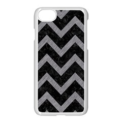 Chevron9 Black Marble & Gray Colored Pencil Apple Iphone 7 Seamless Case (white) by trendistuff