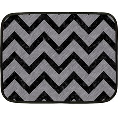 Chevron9 Black Marble & Gray Colored Pencil (r) Double Sided Fleece Blanket (mini)  by trendistuff
