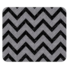 Chevron9 Black Marble & Gray Colored Pencil (r) Double Sided Flano Blanket (small)  by trendistuff