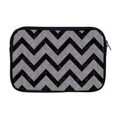 Chevron9 Black Marble & Gray Colored Pencil (r) Apple Macbook Pro 17  Zipper Case by trendistuff