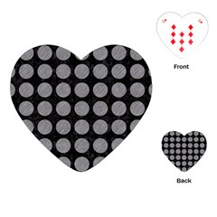 Circles1 Black Marble & Gray Colored Pencilcircle1 Black Marble & Gray Colored Pencil Playing Cards (heart)  by trendistuff