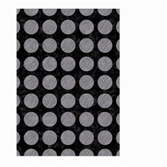 Circles1 Black Marble & Gray Colored Pencilcircle1 Black Marble & Gray Colored Pencil Large Garden Flag (two Sides) by trendistuff