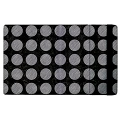 Circles1 Black Marble & Gray Colored Pencilcircle1 Black Marble & Gray Colored Pencil Apple Ipad 3/4 Flip Case by trendistuff