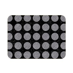 Circles1 Black Marble & Gray Colored Pencilcircle1 Black Marble & Gray Colored Pencil Double Sided Flano Blanket (mini)