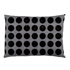 Circles1 Black Marble & Gray Colored Pencil (r) Pillow Case by trendistuff
