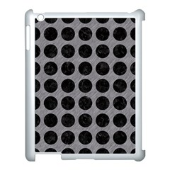 Circles1 Black Marble & Gray Colored Pencil (r) Apple Ipad 3/4 Case (white) by trendistuff