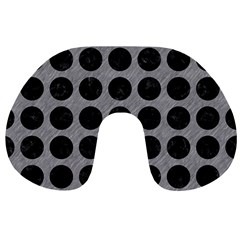 Circles1 Black Marble & Gray Colored Pencil (r) Travel Neck Pillows by trendistuff
