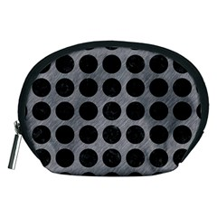 Circles1 Black Marble & Gray Colored Pencil (r) Accessory Pouches (medium)  by trendistuff