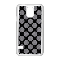 Circles2 Black Marble & Gray Colored Pencil Samsung Galaxy S5 Case (white) by trendistuff