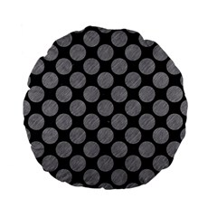 Circles2 Black Marble & Gray Colored Pencil Standard 15  Premium Flano Round Cushions by trendistuff
