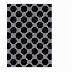 Circles2 Black Marble & Gray Colored Pencil (r) Large Garden Flag (two Sides) by trendistuff