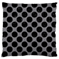 Circles2 Black Marble & Gray Colored Pencil (r) Large Cushion Case (two Sides) by trendistuff