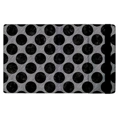 Circles2 Black Marble & Gray Colored Pencil (r) Apple Ipad 2 Flip Case by trendistuff