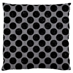 Circles2 Black Marble & Gray Colored Pencil (r) Standard Flano Cushion Case (one Side) by trendistuff
