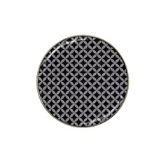 Circles3 Black Marble & Gray Colored Pencil Hat Clip Ball Marker (10 Pack) by trendistuff
