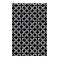 Circles3 Black Marble & Gray Colored Pencil Shower Curtain 48  X 72  (small)  by trendistuff