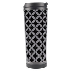 Circles3 Black Marble & Gray Colored Pencil Travel Tumbler by trendistuff