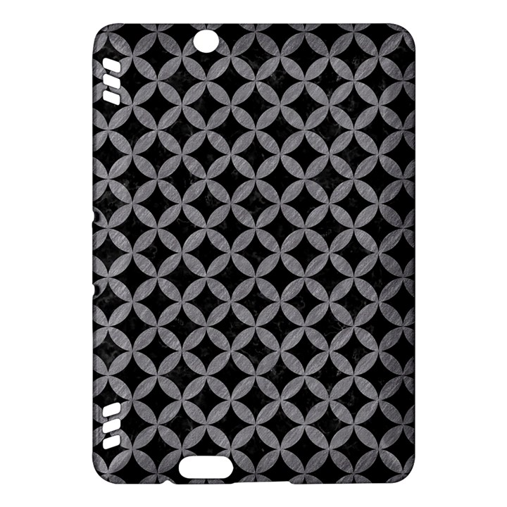 CIRCLES3 BLACK MARBLE & GRAY COLORED PENCIL Kindle Fire HDX Hardshell Case