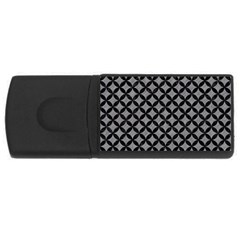 Circles3 Black Marble & Gray Colored Pencil (r) Rectangular Usb Flash Drive by trendistuff