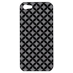Circles3 Black Marble & Gray Colored Pencil (r) Apple Iphone 5 Hardshell Case by trendistuff