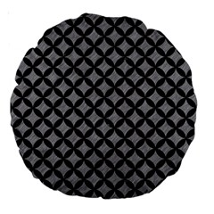 Circles3 Black Marble & Gray Colored Pencil (r) Large 18  Premium Round Cushions by trendistuff