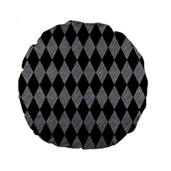 Diamond1 Black Marble & Gray Colored Pencil Standard 15  Premium Round Cushions by trendistuff