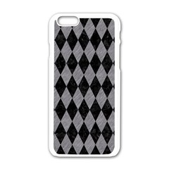 Diamond1 Black Marble & Gray Colored Pencil Apple Iphone 6/6s White Enamel Case by trendistuff