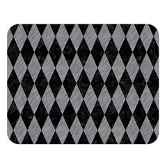 Diamond1 Black Marble & Gray Colored Pencil Double Sided Flano Blanket (large)