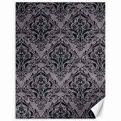 Damask1 Black Marble & Gray Colored Pencil (r) Canvas 12  X 16   by trendistuff