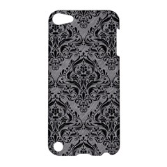 Damask1 Black Marble & Gray Colored Pencil (r) Apple Ipod Touch 5 Hardshell Case by trendistuff