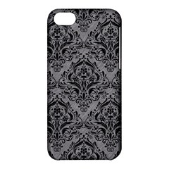 Damask1 Black Marble & Gray Colored Pencil (r) Apple Iphone 5c Hardshell Case by trendistuff