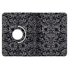 Damask2 Black Marble & Gray Colored Pencil Kindle Fire Hdx Flip 360 Case by trendistuff