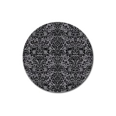 Damask2 Black Marble & Gray Colored Pencil (r) Magnet 3  (round) by trendistuff