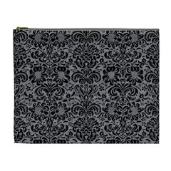 Damask2 Black Marble & Gray Colored Pencil (r) Cosmetic Bag (xl) by trendistuff