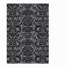 Damask2 Black Marble & Gray Colored Pencil (r) Large Garden Flag (two Sides) by trendistuff