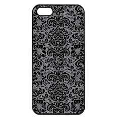 Damask2 Black Marble & Gray Colored Pencil (r) Apple Iphone 5 Seamless Case (black) by trendistuff