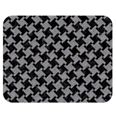 Houndstooth2 Black Marble & Gray Colored Pencil Double Sided Flano Blanket (medium)