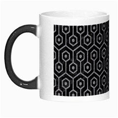 Hexagon1 Black Marble & Gray Colored Pencil Morph Mugs by trendistuff