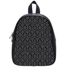 Hexagon1 Black Marble & Gray Colored Pencil School Bag (small) by trendistuff