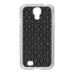 Hexagon1 Black Marble & Gray Colored Pencil Samsung Galaxy S4 I9500/ I9505 Case (white) by trendistuff