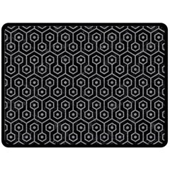 Hexagon1 Black Marble & Gray Colored Pencil Double Sided Fleece Blanket (large)  by trendistuff