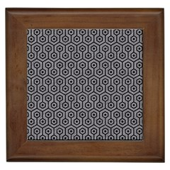 Hexagon1 Black Marble & Gray Colored Pencil (r) Framed Tiles by trendistuff