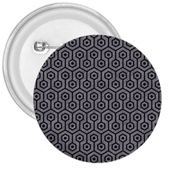 Hexagon1 Black Marble & Gray Colored Pencil (r) 3  Buttons by trendistuff